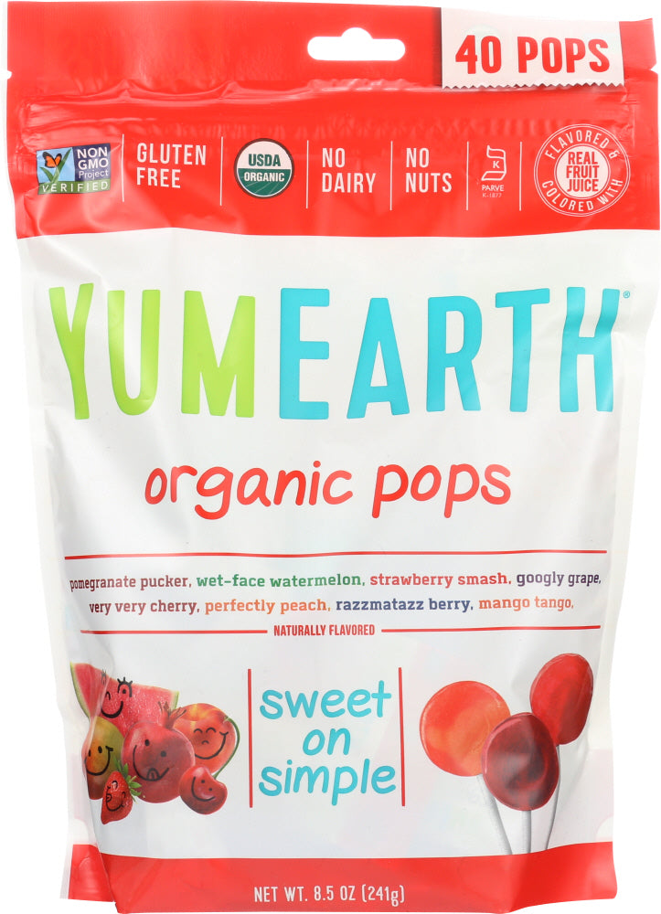 Yumearth Organics: Assorted Organic Pops 40+ Pops, 8.5 Oz