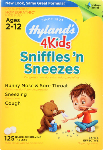 Hyland's: 4 Kids Sniffles 'n Sneezes, 125 Quick-dissolving Tablets
