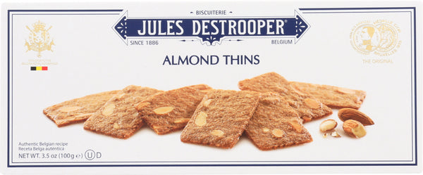 Jules Destrooper: Cookie Thin Almond, 3.5 Oz