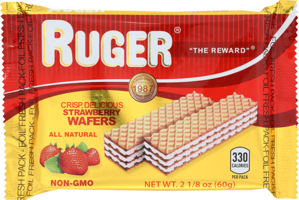Ruger: Strawberry Wafers, 2.125 Oz