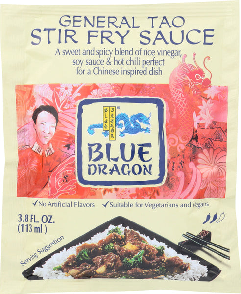 Blue Dragon: General Tao Stir Fry Sauce, 3.8 Oz