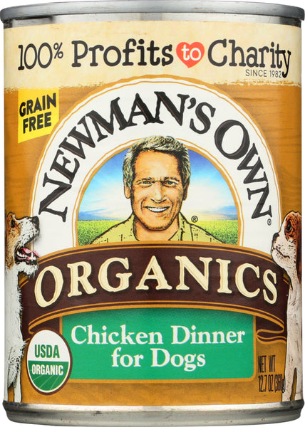 Newmans Own Organic: Dog Can Grain Free Chicken, 12.7 Oz