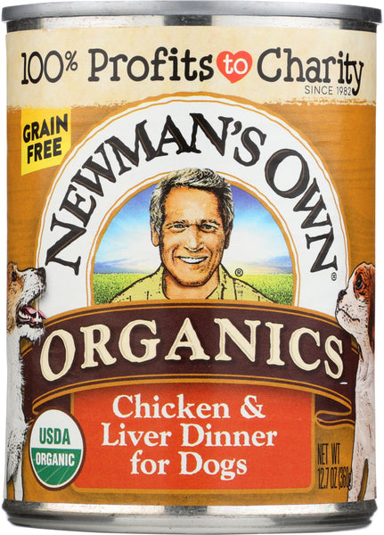 Newmans Own Organic: Dog Can Green Free Liver Chicken, 12.7 Oz