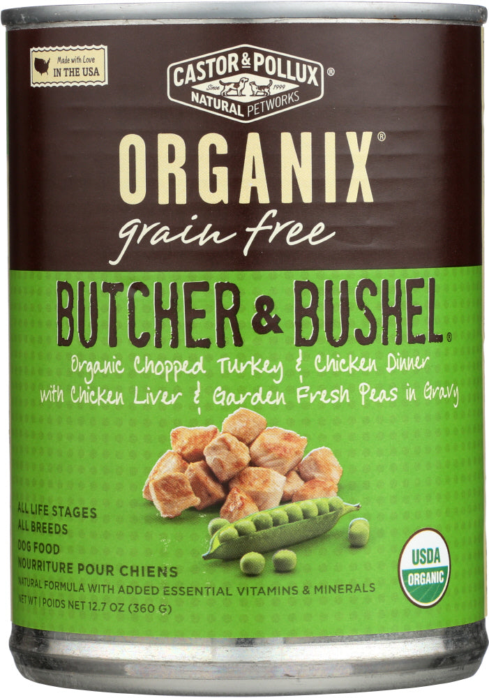 Castor & Pollux: Dog Food Can Organic Butcher & Bushel Turkey Chicken, 12.7 Oz
