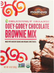Madhava Honey: Organic Ancient Grains Brownie Mix, 18 Oz