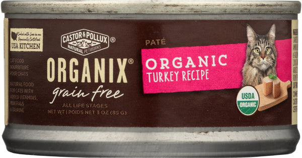 Castor & Pollux: Cat Food Can Organic Turkey Pate, 3 Oz