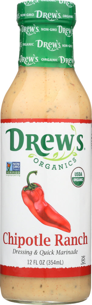 Drews: Dressing Chipotle Ranch Organic, 12 Oz
