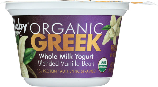 Wallaby: Aussie Greek Whole Milk Vanilla Bean Yogurt, 5.30 Oz