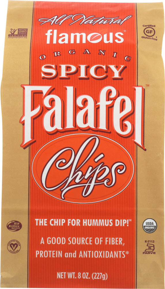 Flamous: Chip Falafel Spicy Organic, 8 Oz