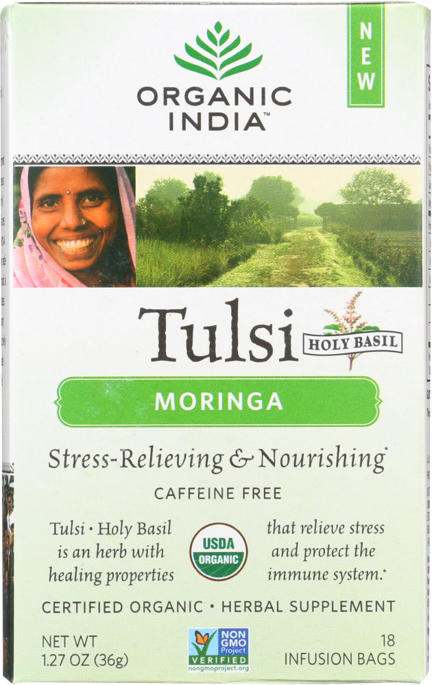 Organic India: Tea Tulsi Moringa, 18 Bg