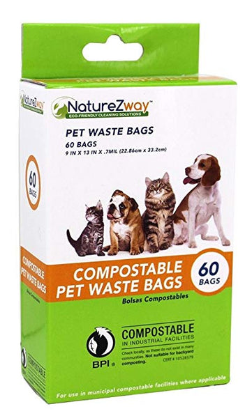 Naturezway: Bag Pet Compostable, 1 Ea