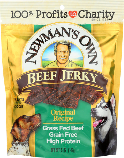 Newmans Own Organic: Dog Treat Beef Jerky Original, 5 Oz