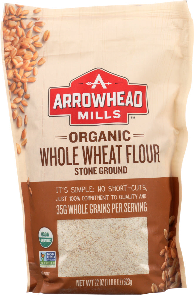 Arrowhead Mills: Organic Stone Ground Whole Wheat Flour, 22 Oz