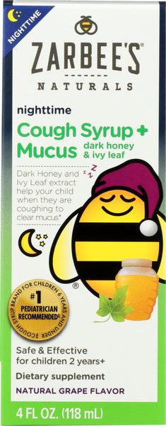 Zarbees: Child Nighttime Mucus, 4 Fo