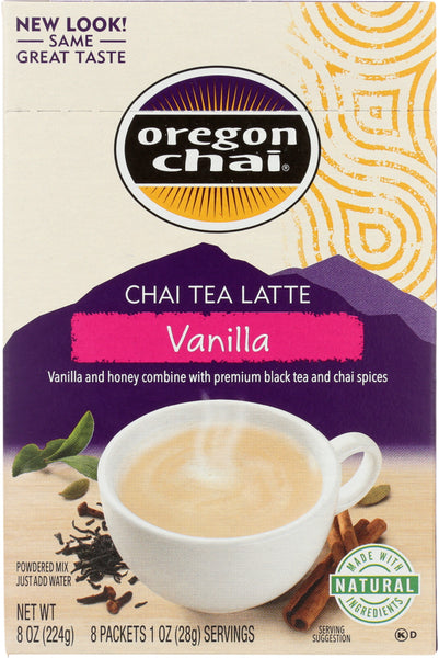 Oregon Chai: Tea Chai Vanilla, 8 Pc