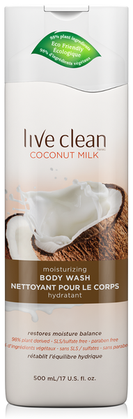 Live Clean: Coconut Milk Moisturizing Body Wash, 17 Oz