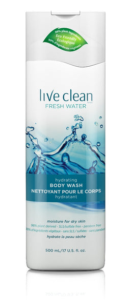 Live Clean: Wash Body Moisturizing, 17 Oz