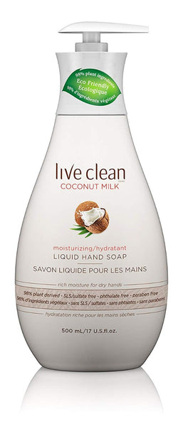 Live Clean: Coconut Milk Moisturizing Hand Soap, 17 Oz