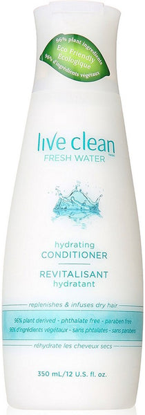 Live Clean: Conditioner Fresh Water, 12 Oz