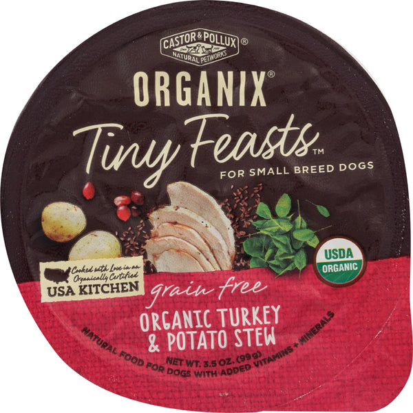 Castor & Pollux: Dog Food Turkey Potato Stew Organic, 3.5 Oz