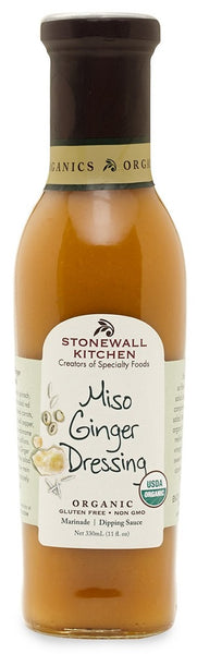 Stonewall Kitchen: Organic Miso Ginger Dressing, 11 Fo