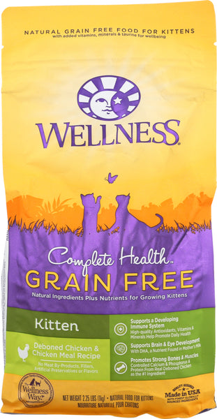 Wellness: Complete Health Deboned Chicken Dry Kitten Food, 2.25 Lb