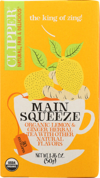 Clipper: Organic Main Squeeze Tea, 1.76 Oz