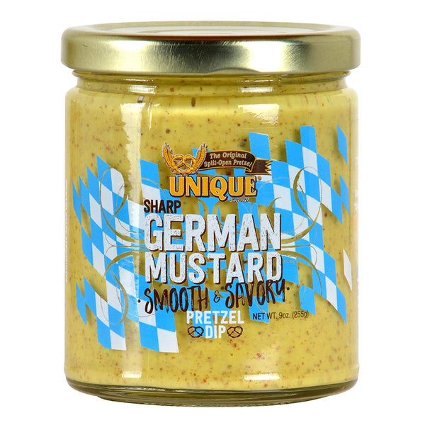 Unique: Pretzels Sharp German Mustard Dip, 9 Oz