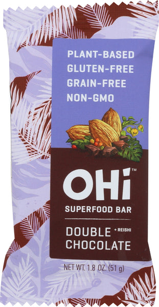 Ohi: Superfood Bar Double Chocolate, 1.80 Oz