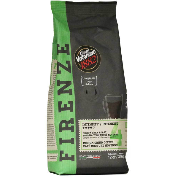 Cafe Vergnano: Coffee Ground Firenze, 12 Oz