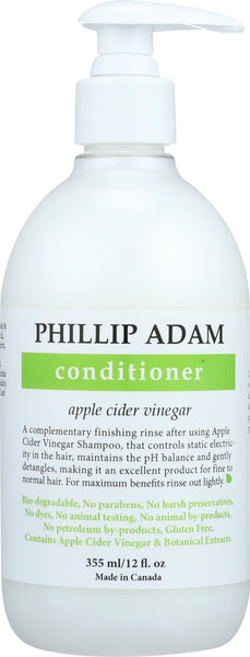 Phillip Adam: Conditioner Apple Cider Vinegar, 12 Oz