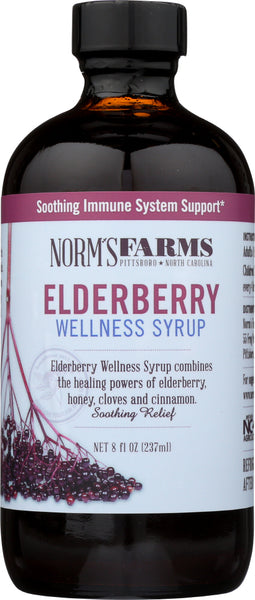 Norms Farms: Syrup Elderberry Wellness, 8 Fo