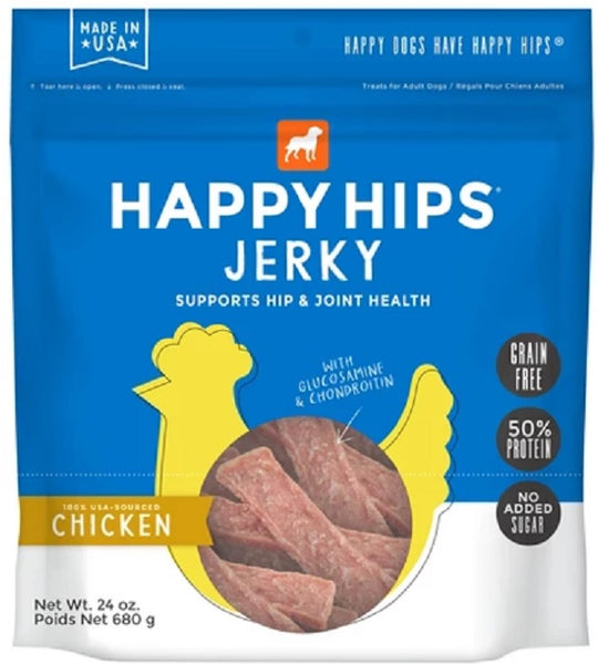 Happy Hips: Dog Treat Jerky Chicken, 24 Oz