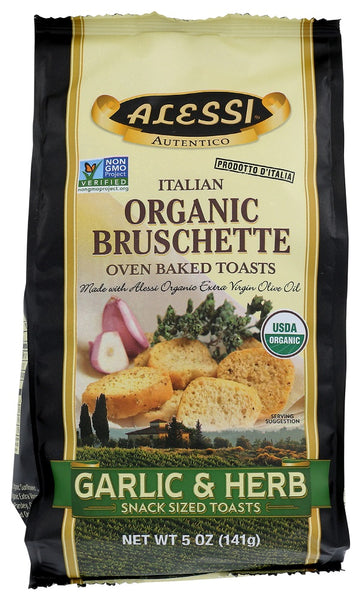 Alessi: Garlic And Herb Italian Organic Bruschette, 5 Oz