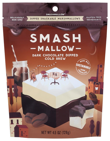 Smashmallow: Dark Chocolate Dipped Cold Brew Marshmallow 4.50 Oz