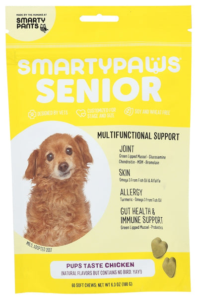 Smarty Pants: Smartypaws Chicken Senior Formula, 60 Pc