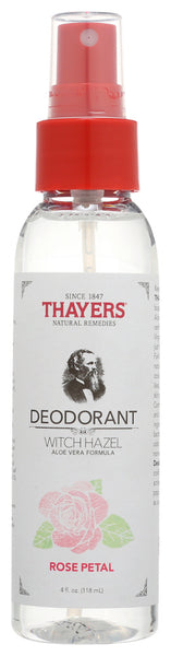 Thayers: Witch Hazel Rose Petal Deodorant, 4 Oz