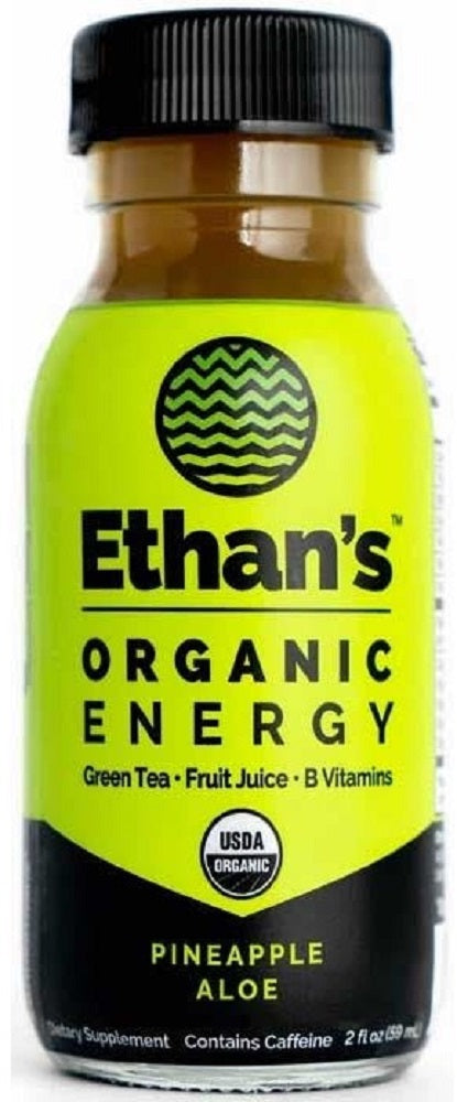 Ethan's: Pineapple Aloe Organic Energy Shot, 2 Fo