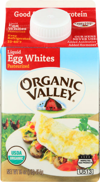 Organic Valley: Organic Pasteurized Liquid Egg Whites, 16 Oz