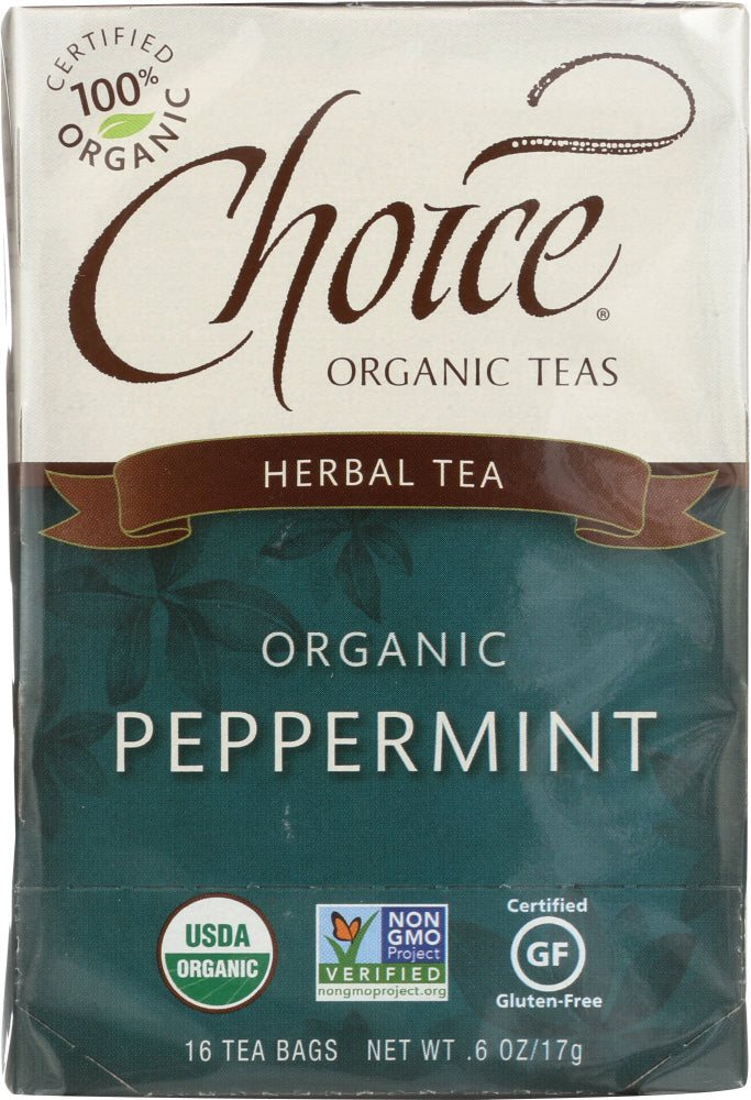 Choice Tea: Organic Peppermint Tea, 16 Bg