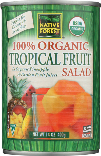 Native Forest: 100% Organic Tropical Fruit Salad, 14 Oz