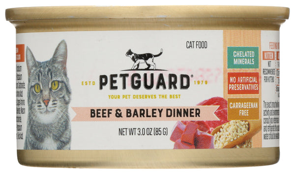 Petguard: Beef And Barley Dinner Cat Food, 3 Oz