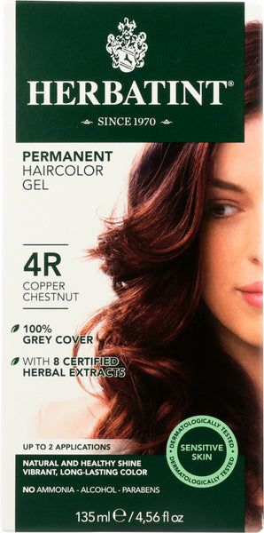 Herbatint: Permanent Hair Color Gel 4r Copper Chestnut, 4.56 Fo