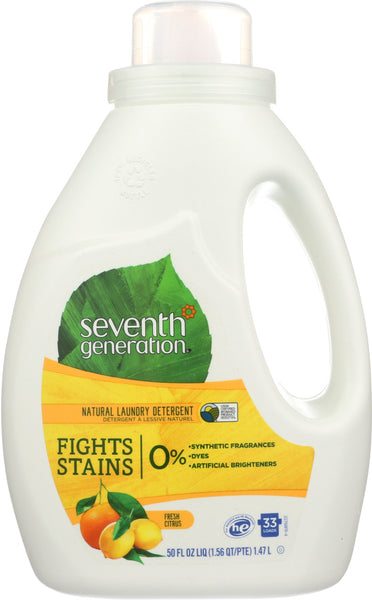 Seventh Generation: Laundry Liquid Fresh Citrus Scent, 50 Oz
