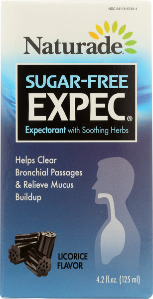 Naturade: Herbal Expectorant Sugar Free Cough Syrup, 4.2 Oz