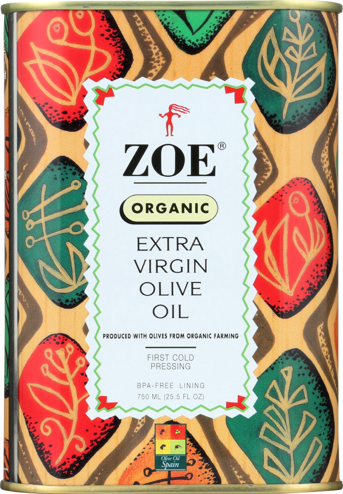 Zoe Diva Select: Oil Olive Extra Virgin Organic, 25.5 Oz