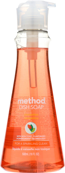 Method Home Care: Dish Soap Liquid Clementine, 18 Oz