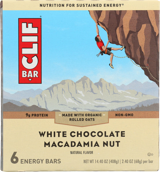 Clif: Bar Chocolate White Macadamia 6 Pc, 14.4 Oz