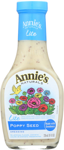 Annies Homegrown: Lite Poppy Seed Dressing, 8 Oz
