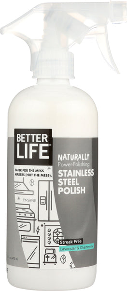 Better Life: Cleaner Polish Stainless Steel Einshine, 16 Oz